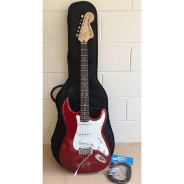 SAMMY acoustic guitar martin HAGAR martin guitar Signed martin guitar accessories Squier martin guitar strings Stratocaster acoustic guitar strings martin Fender Electric Guitar Red and White