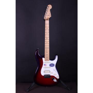 Fender martin American dreadnought acoustic guitar Design martin guitar accessories Deluxe martin guitar strings acoustic medium Stratocaster martin guitar strings Purple Electric Guitar w/Case #0472