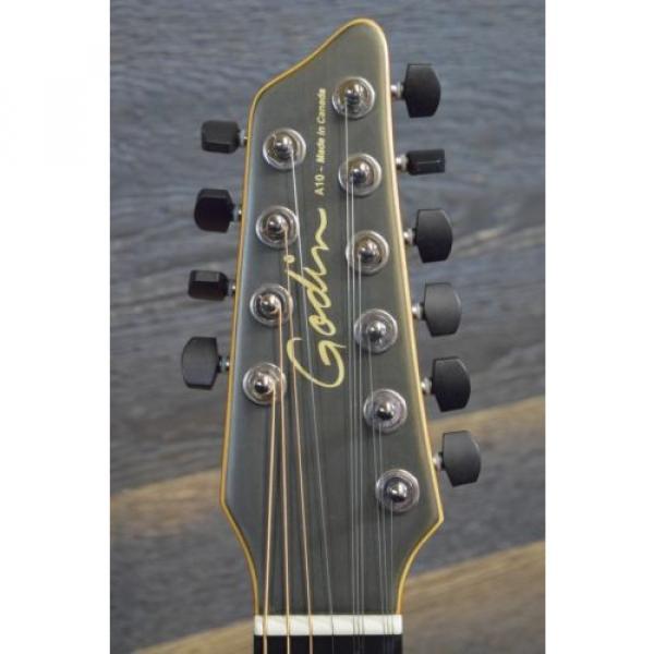 "Godin acoustic guitar martin A10 guitar strings martin Black martin guitar accessories Steel martin d45 HG martin guitar strings acoustic medium ""SF"" 10-String SA El.-Acoustic Guitar w/ Bag #13342127 #5 image"