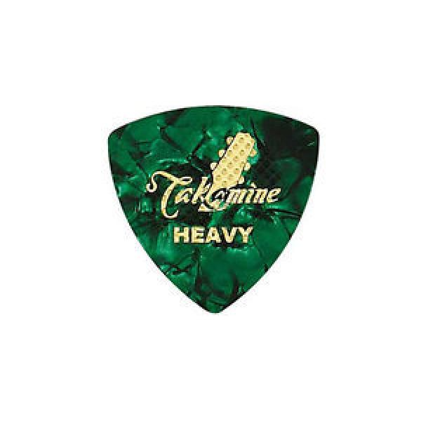 10pcs martin guitar TAKAMINE martin d45 P1G-H martin Green martin acoustic guitars Heavy martin guitar strings acoustic medium Guitar Picks with Cleat Japan import #1 image