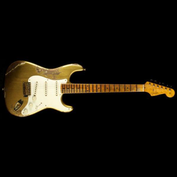 Fender martin acoustic guitar Custom martin guitar strings acoustic medium Shop dreadnought acoustic guitar '56 acoustic guitar martin Stratocaster martin guitar strings acoustic Heavy Relic Electric Guitar Aztec Gold #2 image