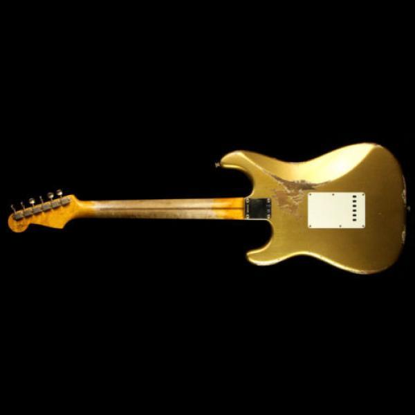 Fender martin acoustic guitar Custom martin guitar strings acoustic medium Shop dreadnought acoustic guitar '56 acoustic guitar martin Stratocaster martin guitar strings acoustic Heavy Relic Electric Guitar Aztec Gold #3 image